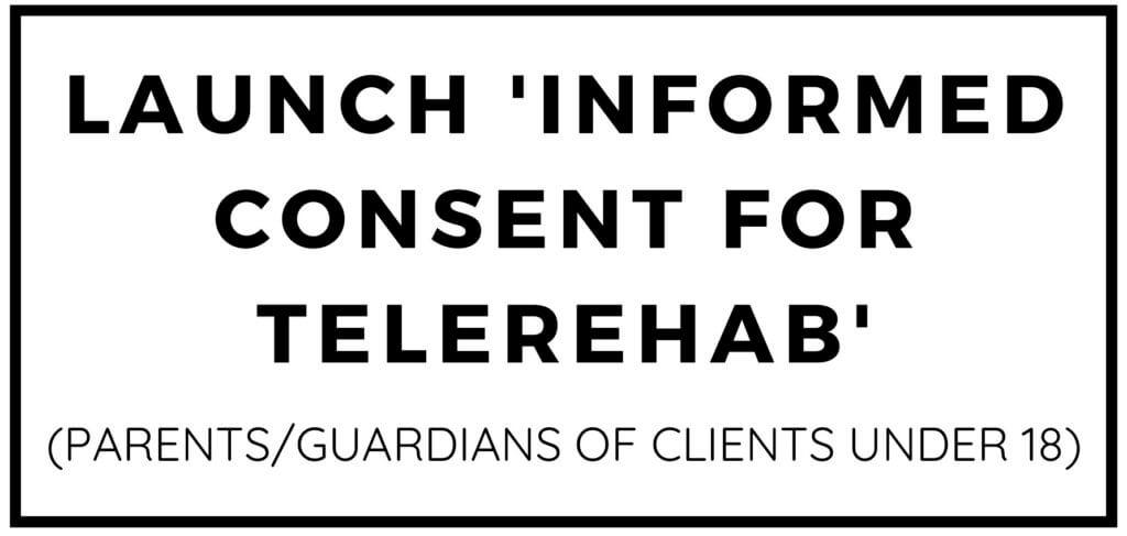 Informed Consent for Telerehab